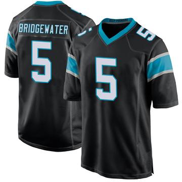 Youth Nike Carolina Panthers Teddy Bridgewater Black Team Color Jersey - Game