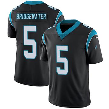 Youth Nike Carolina Panthers Teddy Bridgewater Black Team Color Vapor Untouchable Jersey - Limited