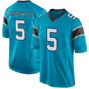Youth Nike Carolina Panthers Teddy Bridgewater Blue Alternate Jersey - Game