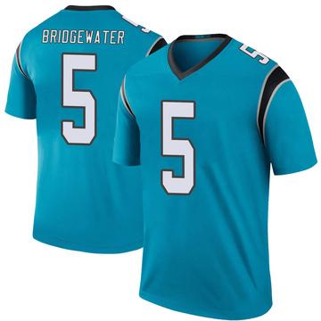 Youth Nike Carolina Panthers Teddy Bridgewater Blue Color Rush Jersey - Legend