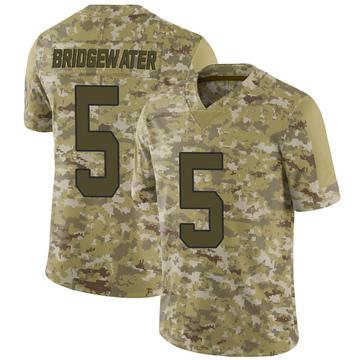 Youth Nike Carolina Panthers Teddy Bridgewater Camo 2018 Salute to Service Jersey - Limited