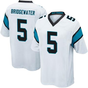 Youth Nike Carolina Panthers Teddy Bridgewater White Jersey - Game