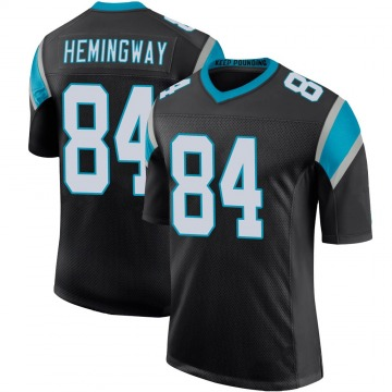 Youth Nike Carolina Panthers Temarrick Hemingway Black Team Color 100th Vapor Untouchable Jersey - Limited