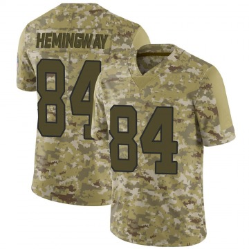 Youth Nike Carolina Panthers Temarrick Hemingway Camo 2018 Salute to Service Jersey - Limited