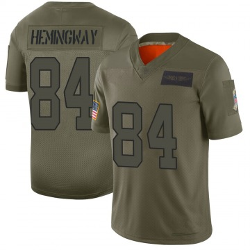 Youth Nike Carolina Panthers Temarrick Hemingway Camo 2019 Salute to Service Jersey - Limited