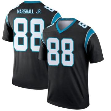 Youth Nike Carolina Panthers Terrace Marshall Jr. Black Jersey - Legend