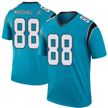 Youth Nike Carolina Panthers Terrace Marshall Jr. Blue Color Rush Jersey - Legend