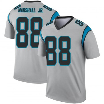 Youth Nike Carolina Panthers Terrace Marshall Jr. Inverted Silver Jersey - Legend