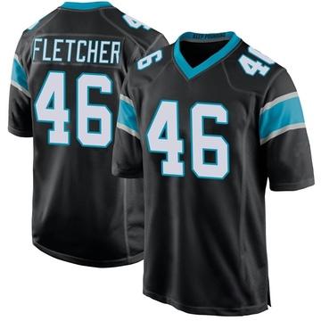 Youth Nike Carolina Panthers Thomas Fletcher Black Team Color Jersey - Game
