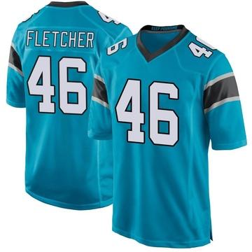 Youth Nike Carolina Panthers Thomas Fletcher Blue Alternate Jersey - Game