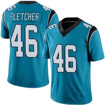 Youth Nike Carolina Panthers Thomas Fletcher Blue Alternate Vapor Untouchable Jersey - Limited