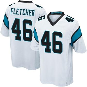 Youth Nike Carolina Panthers Thomas Fletcher White Jersey - Game