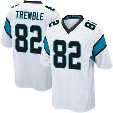 Youth Nike Carolina Panthers Tommy Tremble White Jersey - Game