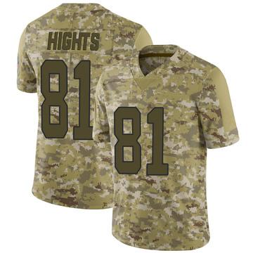 Youth Nike Carolina Panthers TreVontae Hights Camo 2018 Salute to Service Jersey - Limited