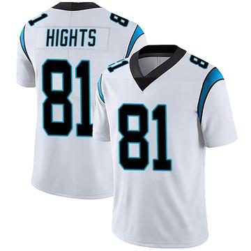 Youth Nike Carolina Panthers TreVontae Hights White Vapor Untouchable Jersey - Limited