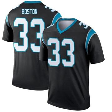 Youth Nike Carolina Panthers Tre Boston Black Jersey - Legend