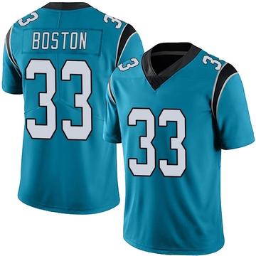 Youth Nike Carolina Panthers Tre Boston Blue Alternate Vapor Untouchable Jersey - Limited