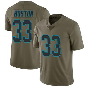 Youth Nike Carolina Panthers Tre Boston Green 2017 Salute to Service Jersey - Limited