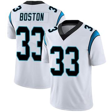Youth Nike Carolina Panthers Tre Boston White Vapor Untouchable Jersey - Limited
