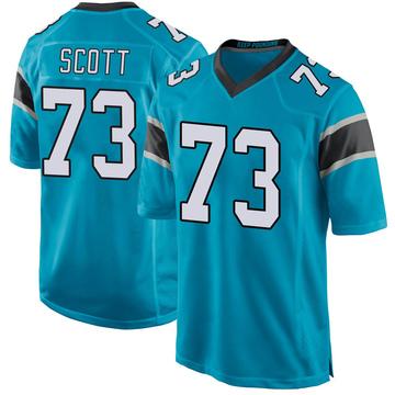 Youth Nike Carolina Panthers Trent Scott Blue Alternate Jersey - Game