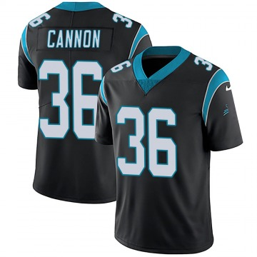 Youth Nike Carolina Panthers Trenton Cannon Black Team Color Vapor Untouchable Jersey - Limited