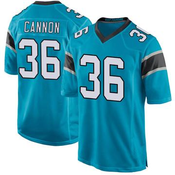 Youth Nike Carolina Panthers Trenton Cannon Blue Alternate Jersey - Game