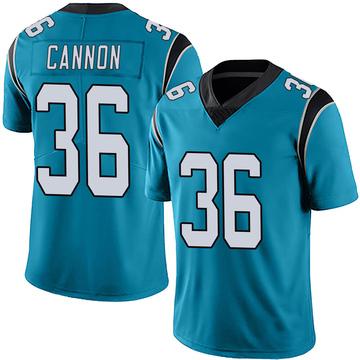 Youth Nike Carolina Panthers Trenton Cannon Blue Alternate Vapor Untouchable Jersey - Limited