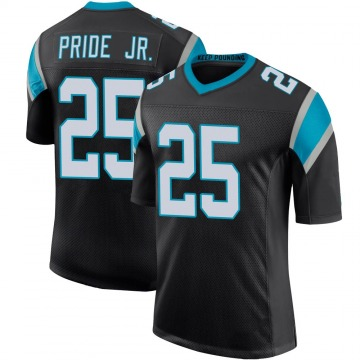Youth Nike Carolina Panthers Troy Pride Jr. Black Team Color 100th Vapor Untouchable Jersey - Limited