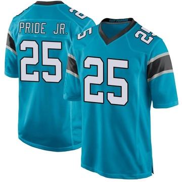 Youth Nike Carolina Panthers Troy Pride Jr. Blue Alternate Jersey - Game