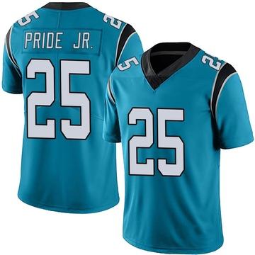 Youth Nike Carolina Panthers Troy Pride Jr. Blue Alternate Vapor Untouchable Jersey - Limited