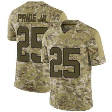 Youth Nike Carolina Panthers Troy Pride Jr. Camo 2018 Salute to Service Jersey - Limited