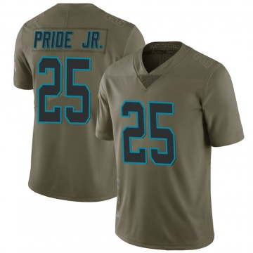 Youth Nike Carolina Panthers Troy Pride Jr. Green 2017 Salute to Service Jersey - Limited