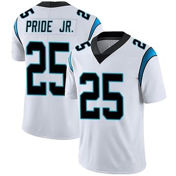 Youth Nike Carolina Panthers Troy Pride Jr. White Vapor Untouchable Jersey - Limited