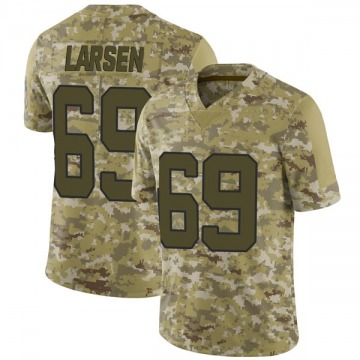 Youth Nike Carolina Panthers Tyler Larsen Camo 2018 Salute to Service Jersey - Limited