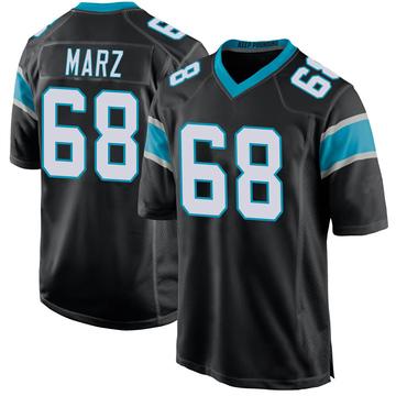 Youth Nike Carolina Panthers Tyler Marz Black Team Color Jersey - Game