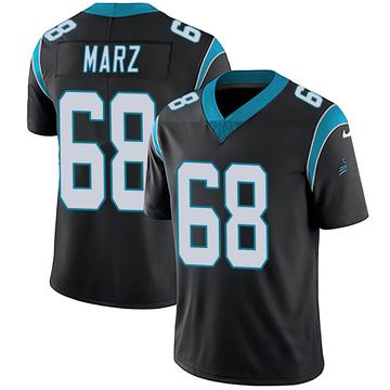 Youth Nike Carolina Panthers Tyler Marz Black Team Color Vapor Untouchable Jersey - Limited