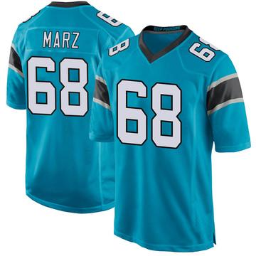 Youth Nike Carolina Panthers Tyler Marz Blue Alternate Jersey - Game