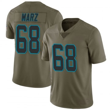 Youth Nike Carolina Panthers Tyler Marz Green 2017 Salute to Service Jersey - Limited