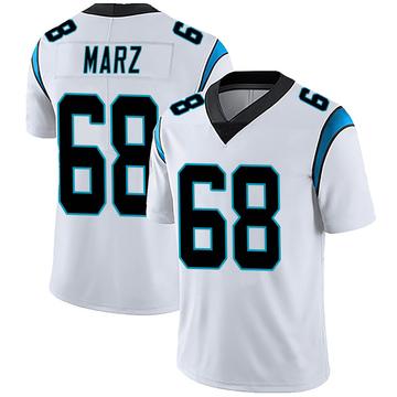Youth Nike Carolina Panthers Tyler Marz White Vapor Untouchable Jersey - Limited