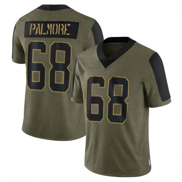 Youth Nike Carolina Panthers Walter Palmore Olive 2021 Salute To Service Jersey - Limited