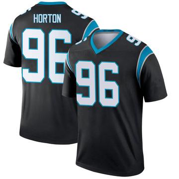 Youth Nike Carolina Panthers Wes Horton Black Jersey - Legend