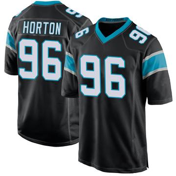 Youth Nike Carolina Panthers Wes Horton Black Team Color Jersey - Game