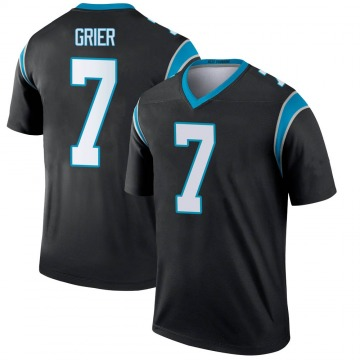 Youth Nike Carolina Panthers Will Grier Black Jersey - Legend