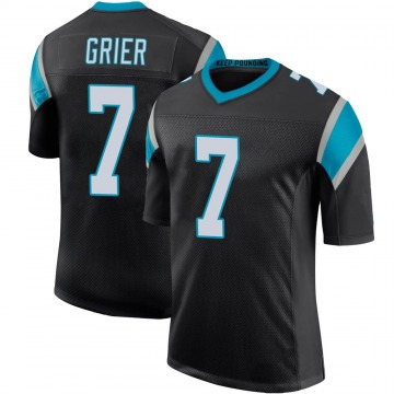 Youth Nike Carolina Panthers Will Grier Black Team Color 100th Vapor Untouchable Jersey - Limited