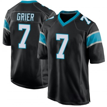 Youth Nike Carolina Panthers Will Grier Black Team Color Jersey - Game