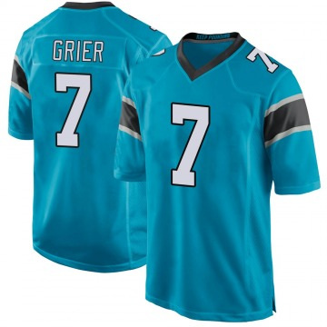 Youth Nike Carolina Panthers Will Grier Blue Alternate Jersey - Game
