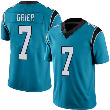 Youth Nike Carolina Panthers Will Grier Blue Alternate Vapor Untouchable Jersey - Limited