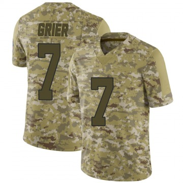Youth Nike Carolina Panthers Will Grier Camo 2018 Salute to Service Jersey - Limited