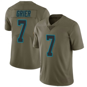 Youth Nike Carolina Panthers Will Grier Green 2017 Salute to Service Jersey - Limited