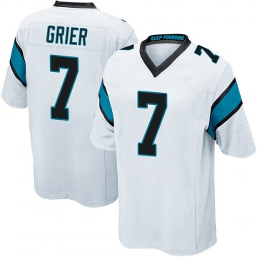 Youth Nike Carolina Panthers Will Grier White Jersey - Game